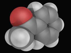 acetophenone molecule - stock illustration