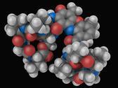 Actinomycin d drug molecule Stock Illustration