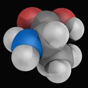 Alanine molecule Stock Illustration