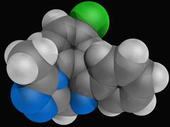 Alprazolam drug molecule Stock Illustration