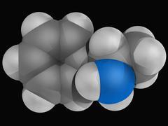 Amphetamine drug molecule Stock Illustration