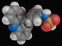 Amsacrine drug molecule Stock Illustration