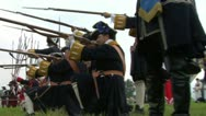 Savoian french infantry battle 05 Stock Footage