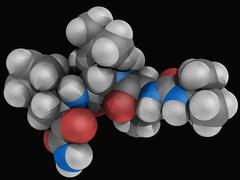 boceprevir drug molecule - stock illustration