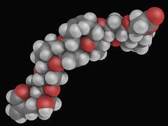 brevetoxin neurotoxin molecule - stock illustration