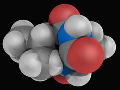 Butalbital drug molecule Stock Illustration