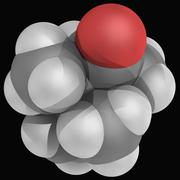 Camphor molecule Stock Illustration
