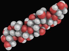 Cellulose molecule Stock Illustration