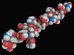 chitosan molecule - stock illustration
