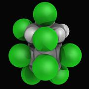 chlordane molecule - stock illustration