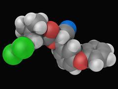 cypermethrin insecticide molecule - stock illustration