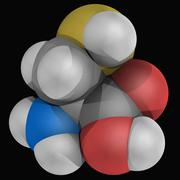 cysteine molecule - stock illustration