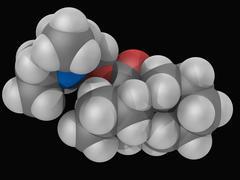 dicyclomine drug molecule - stock illustration