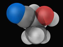 Acetone cyanohydrin molecule Stock Illustration