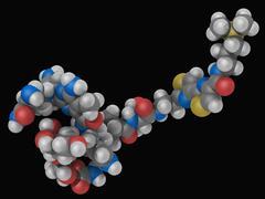 bleomycin drug molecule - stock illustration