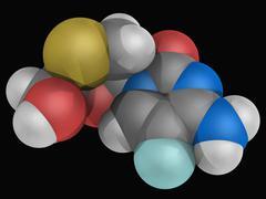 emtricitabine drug molecule - stock illustration