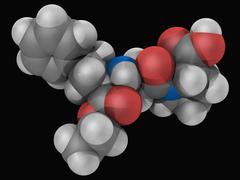 enalapril drug molecule - stock illustration