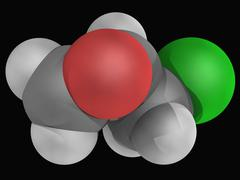 Epichlorhydrin molecule Stock Illustration