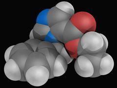 etomidate drug molecule - stock illustration