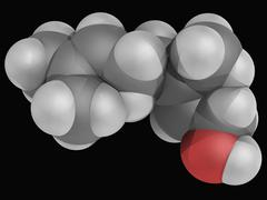 geraniol molecule - stock illustration