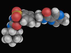 glipizide drug molecule - stock illustration
