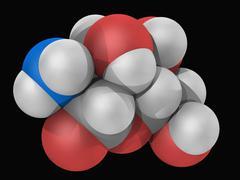 Glucosamine molecule Stock Illustration