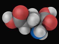 Glutamic acid molecule Stock Illustration