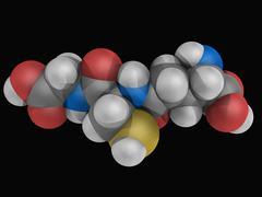 glutathione molecule - stock illustration