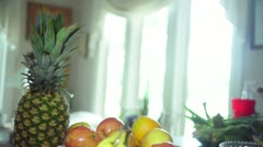Fruit crane shot healthy eating Stock Footage
