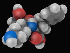 lisinopril drug molecule - stock illustration