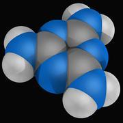 melamine molecule - stock illustration