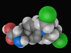 Melphalan drug molecule Stock Illustration