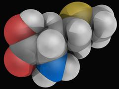 Methionine molecule Stock Illustration