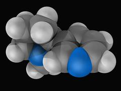 Nicotine molecule Stock Illustration
