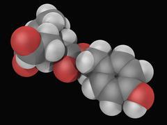 Oleocanthal molecule Stock Illustration