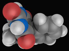 phenobarbital drug molecule - stock illustration