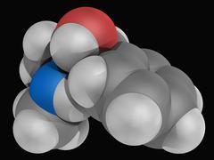 pseudoephedrine drug molecule - stock illustration