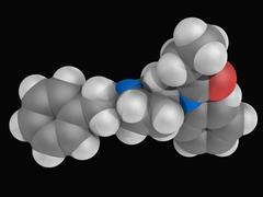 Fentanyl drug molecule Stock Illustration