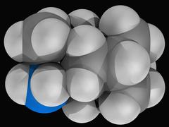 rimantadine drug molecule - stock illustration