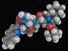Saquinavir drug molecule Stock Illustration