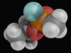 sarin molecule - stock illustration