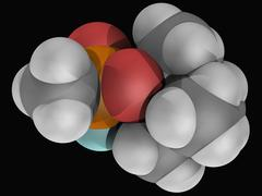 soman molecule - stock illustration