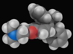 Tamoxifen drug molecule Stock Illustration