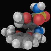 tamsulosin molecular model - stock illustration
