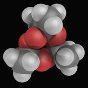 Tatp triacetone triperoxide molecule Stock Illustration