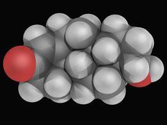 Testosterone hormone molecule Stock Illustration