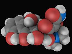 Tetracycline drug molecule Stock Illustration