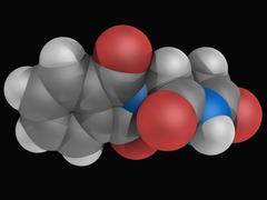 thalidomide drug molecule - stock illustration