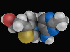 Vitamin b1 thiamine molecule Stock Illustration