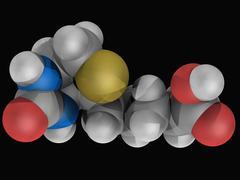 vitamin b7 biotin molecule - stock illustration